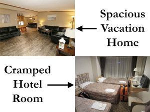 Rental Home vs Hotel Room